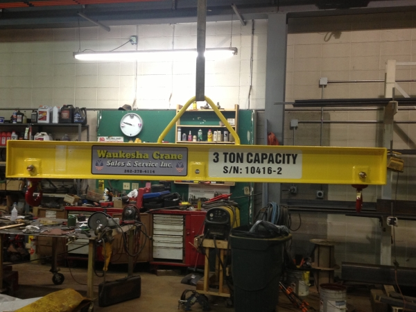 Crane lifting beam manufacturing by Waukesha Crane